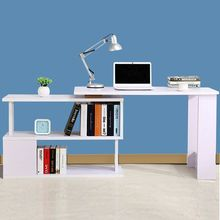 Computer Desks Commercial Office home Furniture panel laptop desk Rotatable computer desk with bookcase office table whole sale(China)