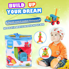KL 50Pcs Big PVC Storage Bag Baby Educational Soft Plastic Building Blocks Set Toy Accessories To Build Mega Pack Children Toy#(China)