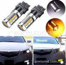 2pcs Double Color White and Amber 5630 22SMD 1157 BAY15D T20 7443 T25 3157 LED Bulbs For Front Turning Lights DRL
