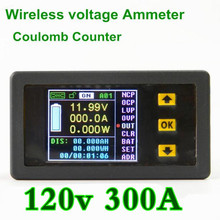 VAC1300A  voltage meter  table Coulomb Counter  Color LCD  display parameters current power capacity watts 120V/300A