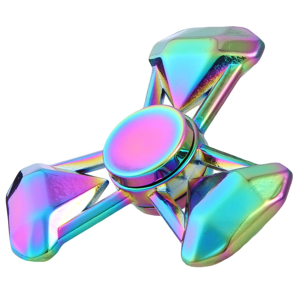 Rainbow series Zinc alloy cool hand spinner colorful fidget spinner toys Gyro Toys Retail Box Stress Relief toys