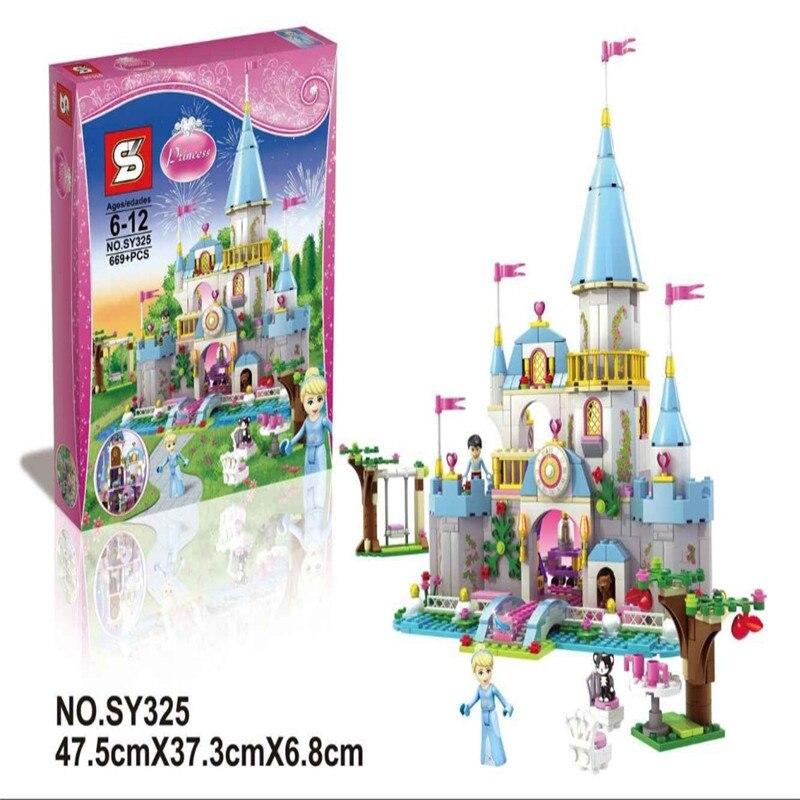 SY325 Building Block Cinderella Romantic Castle Princess Friend Blocks  Bricks Girl Sets Toy compatible lepin<br><br>Aliexpress