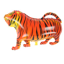 Free Shipping 2 pcs Walking Pet Balloons Tiger Walking Animal Foil Balloons Party Decoration Supplies kids Toys Globos Balony(China)