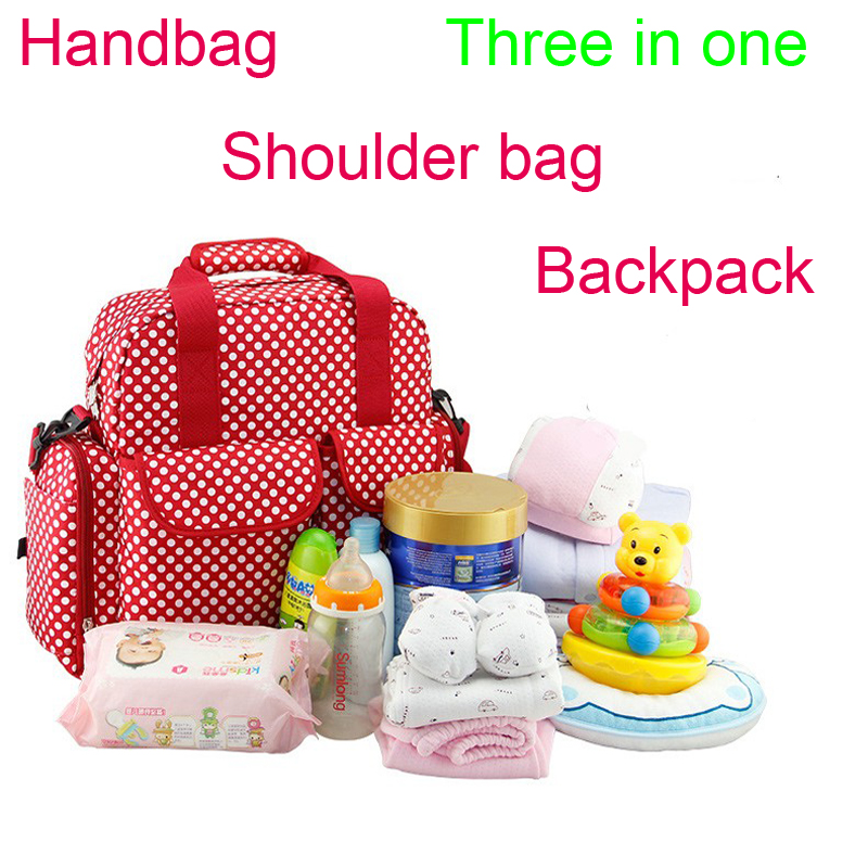Brand Newborn Baby Waterproof  Diaper Nappy Bags Mama Mom Multifunction Shoulder Hand  Bags Baby Care Travel Bags Backpack<br>