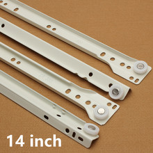 14 inch Furniture hardware Computer desk drawer rail slideway keyboard bracket guide rail