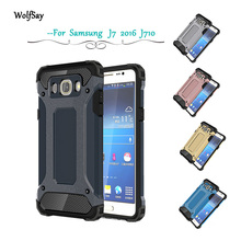 Case For Samsung Galaxy J7 2016 J710 J710F Armor Anti-Shock Silicone Rubber Hard PC Phone Case For Samsung J7 2016 Cover #<