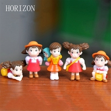 5pcs/lot Cartoon action figure Hayao Miyazaki film miniature figurines Toys 2-4cm PVC japanese cute anime