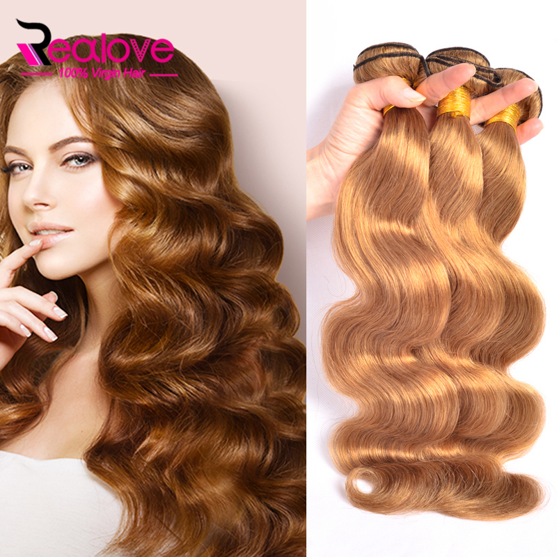 Brazilian Body Wave 3Pcs #27 Mink Brazilian Virgin Hair Body Wave 100% Human Hair Bundles Blonde Brazilian Hair Weave Bundles<br><br>Aliexpress