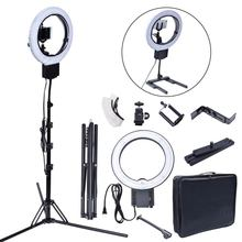 Studio 40W 5400K DIVA Ring Light with Tripod Stand Table Top Kit for Photography Camera Photo Video Phone Beauty Make Up Selfie(China)