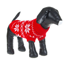 Dogs Clothing Winter Warm Dogs Pet Cat Sweater Clothes Snowflake Knit Coat Cozy Apparel(China)