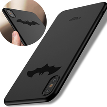 Luxury Batman Soft Silicone Case For iPhone X Coque 360 Protection High Quality TPU Phone Case For iPhone 8 / 8 Plus Cover New(China)