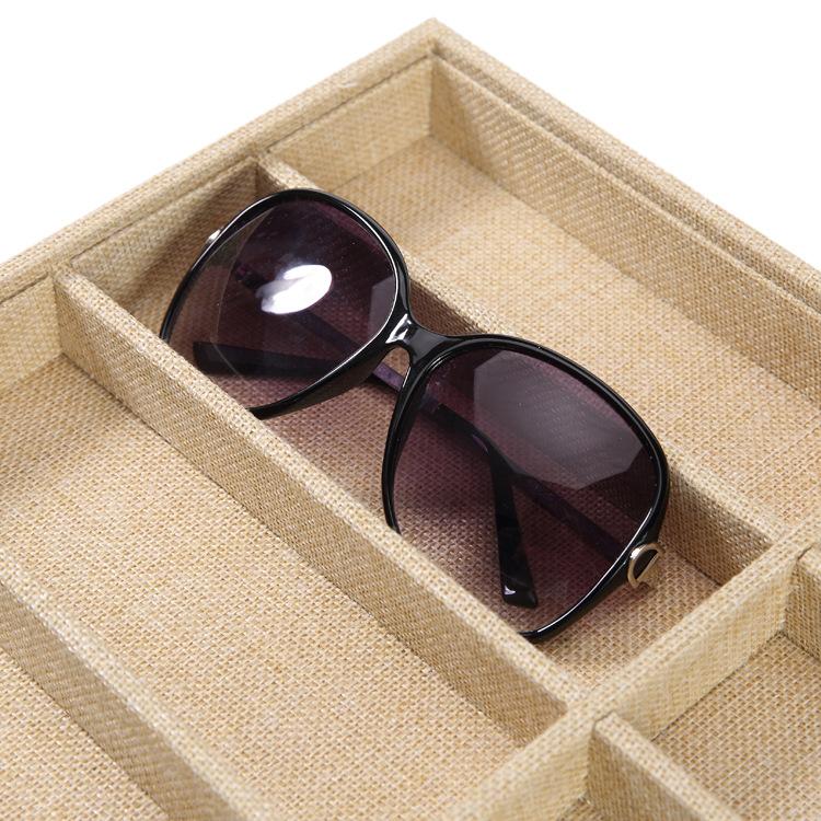 CHICIRIS Organizador de Gafas de Sol de Viaje Colector de Gafas Estuche de Almacenamiento Caja de Soporte Pantalla Caja de Gafas de Sol Organizador de Gafas de Sol marr/ón