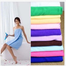1 Pc 70x140cm Bamboo Towel Bath Shower Fiber Cotton Super Absorbent Home Hotel Wrap 10 Colors H0325(China)
