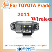 Wireless 1/4 Color CCD Rear View Camera / Parking Camera / Wireless Reverse Camera For TOYOTA prado 2011 Night Vision