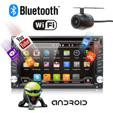 Universal 2 din Android 6.0 Car DVD player GPS Wifi Bluetooth Radio 1GB CPU DDR3 Capacitive Touch Screen 3G car pc audio obd2(China)