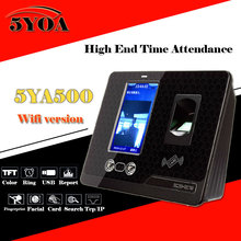 Facial Recognition Face Wifi TCP/IP RFID ID Biometric Fingerprint Time Clock Recorder Attendance Employee English Reader Machine
