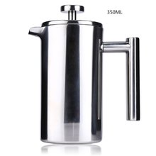 350ML Espresso Coffee Maker Pot Practical Stainless Steel Cafetiere Double Wall Insulated Tea Coffee Maker with Filter for Home(China)