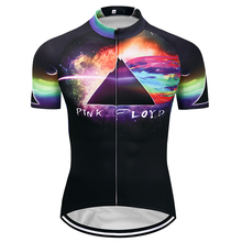 Crossrider 2018 Summer Pink Floyd Men's Short Cycling Jerseys MTB Pro Mountain Bike Clothing bicycle Shirt Ropa Maillot Ciclismo(China)