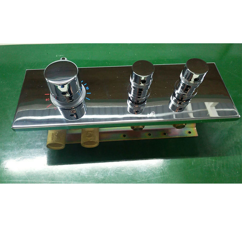 JMKWS 2 Functional Thermostatic Bath Shower Mixer Brass Chrome Controller Water Mixer Valve High Flow Bathroom Shower Switch 1