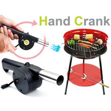Novelty Outdoor Travel Picnic Barbecue Cooking Tool Hand Crank Fan Air Blower(China)