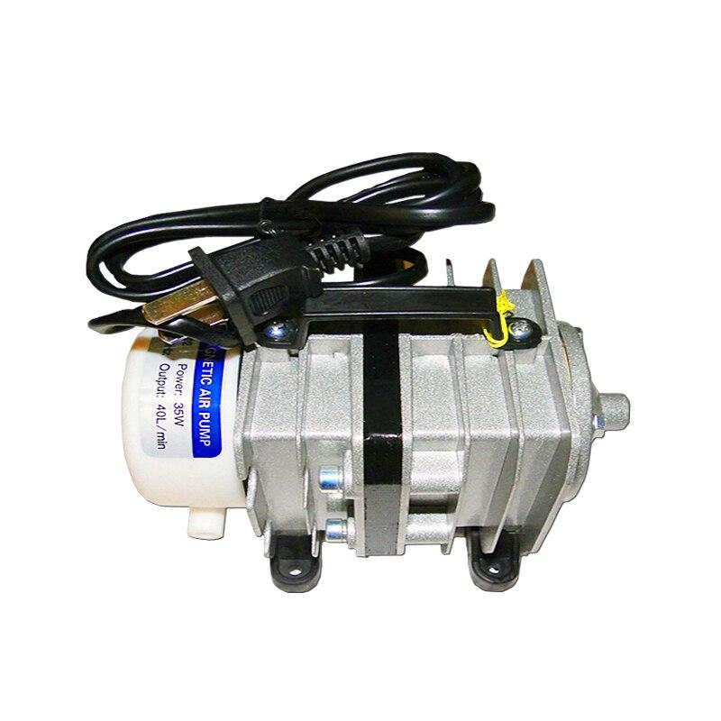 Electromagnetic type Air pump Oxygen Tank Aquarium Air Compressor for laser engraving machine use 35W 40L/MIN<br>