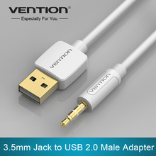 Vention Sync 3.5mm Male AUX Audio Plug Jack to USB 2.0 Female Converter Cable Cord