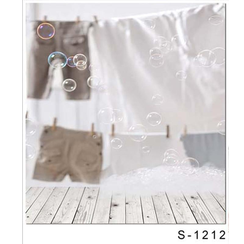 Children Vinyl Imaging Wooden Floor Background Computer Printing Kate Backdrops Shiraki Floor Bubble Clothesline For Baby Photos<br>