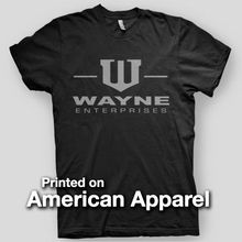 WAYNE ENTERPRISES Dark Knight Batman Joker AMERICAN APPAREL T-Shirt Summer Short Sleeves New Fashion T Shirt Loose