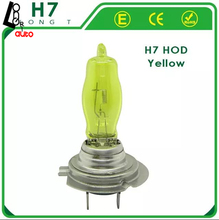 2 x H7 HOD 9003 HB2 P43T 12V 3000K-4300K 100W Golden Yellow Auto Car HOD Halogen Bulbs Lamps Headlight Bulbs