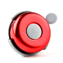 Bike Bicycle Horn Pure Copper Metal Material Bicycle Cycling Handlebar Crisp Ringing Gear Mechanical Bell Bike Cycle Ring Red