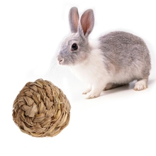 10cm Pet Chew Toy Woven Grass Ball with Bell For Rabbit Hamster Guinea Pig Chinchillas H06