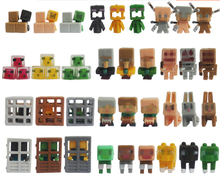 36pcs/lot New! Minecraft More Characters Hanger Creeper Action Figure Toys Cute 3D Minecraft Models Games Collection Toys #F