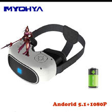 MYOHYA G2 All In One VR 3D Glasses Virtral Reality Headset Android 4.4 And 5'' 1080P HD IPS Display TF WIFI Bluetooth 2G 16G