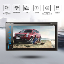 "6.2"" HD Capacitive multi-touch screen Car 2 DIN Bluetooth Player DVD/MP3/FM/AM/USB/SD/AUX-IN/Support Steering wheel control"