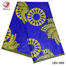 Super london wax prints fabric veritable hitarget wax fabric 6 yards sanhe ankara fabric african wax for dress LBV-069(China)