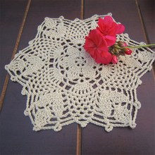 HOT!!!Cotton Mat Hand Crocheted Lace Doilies 1Pcs Flower Shape Coasters Cup Mug Pads Home Coffee Shop Table Decoration Crafts(China)