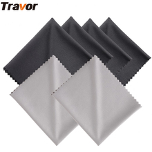 Travor 6Pcs 18*15cm Microfiber Cleaning Cloth for Camera Lens/LED Screens/Tablets/Smartphones 4 Black+2 Gray(China)
