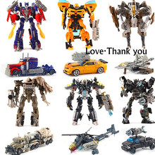 original Movie Cars Robots Toy Transformation 4 Cars Robots Action Figures Toys Classic model Toys for boys gifts Brinquedos box