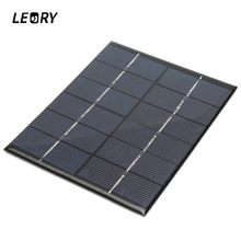LEORY Universal 6V 2W 330mAh Solar Panel DIY Solar Module For Light Battery Batteries Cells Phones Charger Portable 110x136x3mm(China)