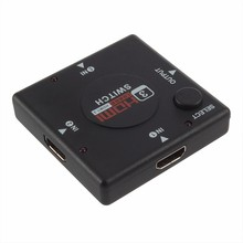 1pcs Hot Mini 3 Port HDMI Switch Switcher HDMI Splitter HDMI Port for HDTV 1080P Vedio HDMI KVM Switcher