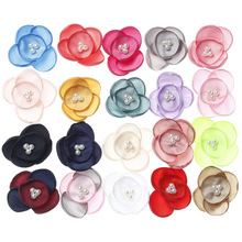 Wholesale 30PCS/Lot Pearl Core Fabric Flower Crafts Fit for Toddler Kids Hair Jewelry Heaband Girls Hair Clip Decor material