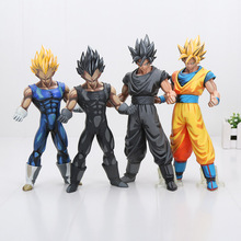 26cm Dragon ball Z Figure MSP Master Stars Piece Vegeta Son Goku black chocolate goku PVC Action Figure Toy Christmas gift