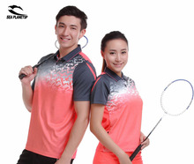 SEA PLANETSP NEWS portswear sweat Quick Dry breathable badminton shirt , Women/Men table tennis clothe running training T Shirts