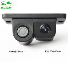 GreenYi Car CCD Rear View Camera Video with Parking Sensor System Sound Alarm Display Distance and Image in Car Monitor