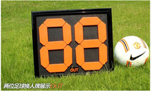 Free shipping 2/4 digit Sports Portable basketball Scoreboards football score board for volleyball tennis soccer score board(China)