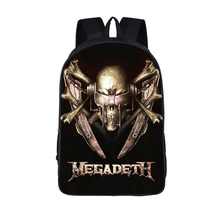 Rock Band Megadeth / acdc / Iron Maiden / Slayer backpack Thrash Metal Teenager School Bags Heavy Metal Backpacks Laptop Bag