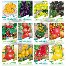 12 Original Packs, Approx 30 seeds / pack, Cherokee Purple Black Red Yellow Green Cherry Peach Pear Tomato Non-GMO Organic Food