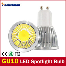 Dimmable GU10 Led Spotlight Bulb 15W 10W 7W 5W 3W Gu10 Led Cob LED Sport Light Lamp Gu10 Led Bulb AC85-265v Lampada 10pcs(China)