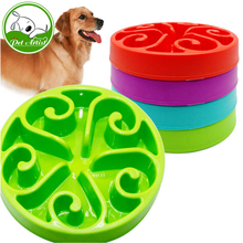 Slow Feed Dog Bowl Anti Chocking Pet Feeder Fun Interactive Stop Bloat Feeding Watering Bowls For Dogs Cats Small(China)