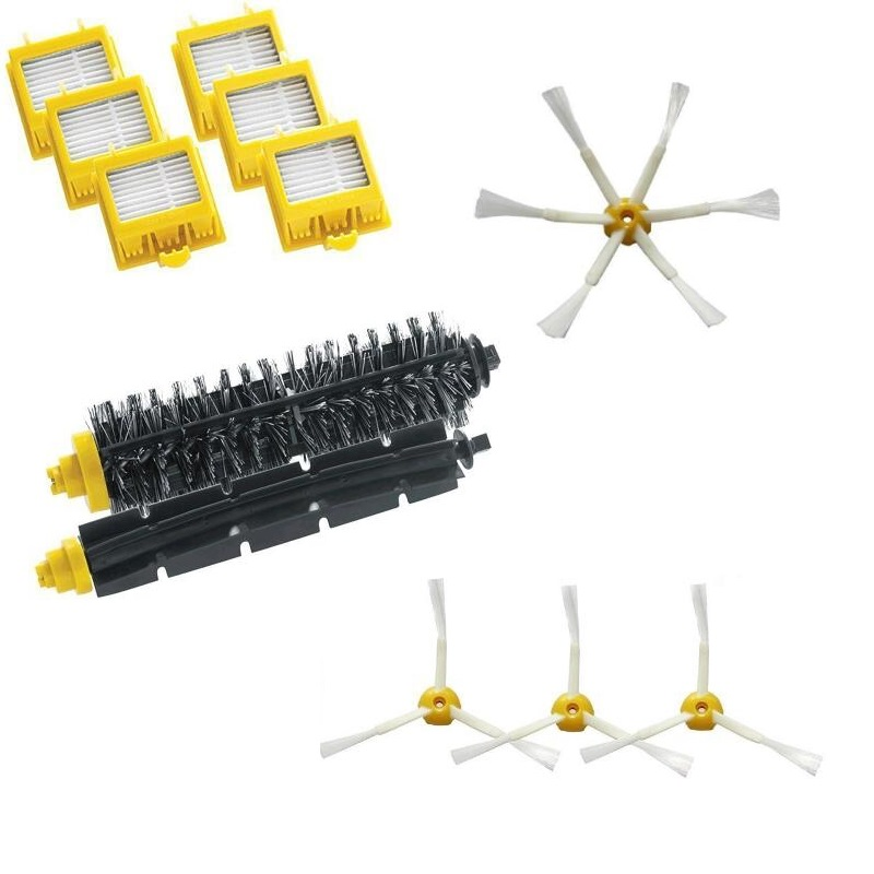 6 Hepa Filter +Flexible Beater Bristle Brush kit + 4 side brush kit for iRobot Roomba 700 Series 770 780 790 aspirador accessory<br><br>Aliexpress